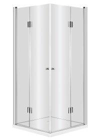 Dušo kabina DEANTE KERRIA, 90 x 90 x 200 cm, kvadratinė, skaidrus grūdintas 6 mm stiklas, be padėklo