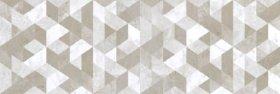 Plytelių keraminis dekoras CERAMICA FIORE BIANCO/SILVER 4736, 25,5 x 75,5 cm, 1,155 m2/dėž., pilkos spalvos, rombai, Bulgarija
