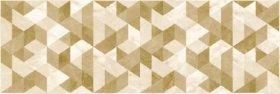 Plytelių keraminis dekoras CERAMICA FIORE BOTTICINO 4726, 25,5 x 75,5 cm, 1,155 m2/dėž., smėlio spalvos, rombai, Bulgarija