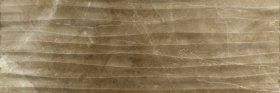 Plytelių keraminis dekoras CERAMICA FIORE AMBER 4738, 25,5 x 75,5 cm, 1,155 m2/dėž., rudas marmuras, bangos, Bulgarija