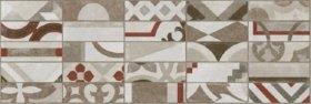 Plytelių keraminis dekoras CERAMICA FIORE SENSI 4727, 25,5 x 75,5 cm, 1,155 m2/dėž., smėlio spalvos, patchwork, Bulgarija