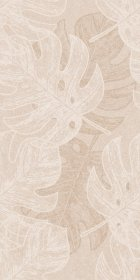 Plytelių keraminis dekoras CERAMICA FIORE BOLERO 4651, 30 x 60 cm, 1,600 m2/dėž., smėlio spalvos, lapai, Bulgarija