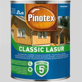 Medienos impregnantas PINOTEX CLASSIC, 1 l šermukšnis, matinis