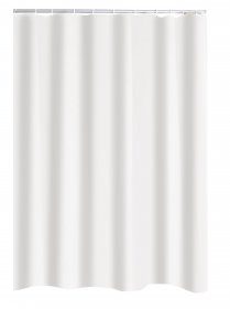 Vonios užuolaida RIDDER UNI WHITE ECO, 180 x 200 cm, tekstilinė, 140301