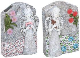 """Kapų statulėlė """"Angelas"""", šviečianti, su saulės baterija, N"""