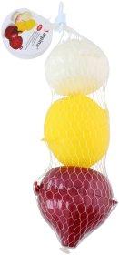 Maisto produktų dėžučių rinkinys citrinai, česnakui ir svogūnui