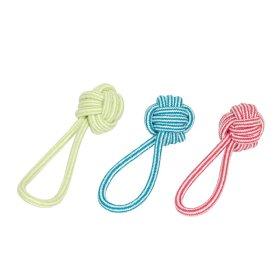 Žaislas šunims kamuolys su virvele