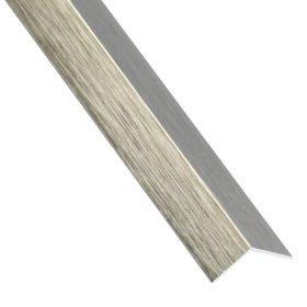 PVC kampinis profilis ARCANSAS 1568, 2600 x 20 x 20 mm, titano spalvos