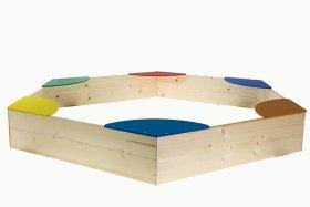 Smėlio dėžė PAS-01, 1200 x 1390 x 180 mm, medinė