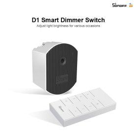 Išmanusis šviesos intensyvumo reguliatorius SONOFF D1, valdomas programėle, WiFi, galimybė valdyti balsu