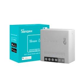 Išmanusis jungiklis SONOFF MINIR2, 2200W, 230VAC, valdomas programėle, Wi-Fi, galimybė valdyti balsu, DIY režimas