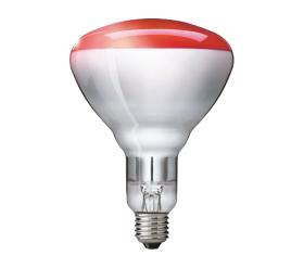 Kaitrinė lempa PHILIPS BR125 IR, infrared, E27, 250W, raudona, šildanti, 5000 val.