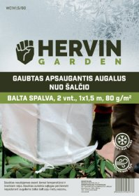 Gaubtas apsaugantis augalus nuo šalčio HERVIN GARDEN A691330004, baltos sp., 2 vnt., 1x1,5m, 80g/m2, WC1X1,5/80