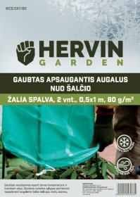 Gaubtas apsaugantis augalus nuo šalčio HERVIN GARDEN A691330005, žalios sp., 2 vnt., 0,5x1m, 80g/m2, WC0,5X1/80