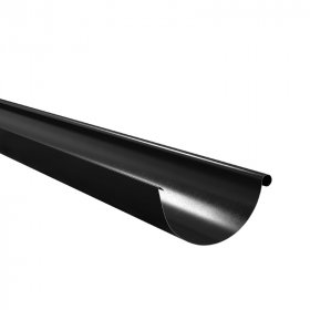 Latakas BILKA, 3 m Skersmuo 125 mm, juodos spalvos, RAL9005