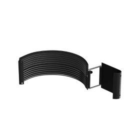 Latako jungtis BILKA, Skersmuo 125 mm, juodos spalvos, RAL9005