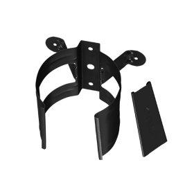 Lietvamzdžio laikiklis BILKA, Universalus, skersmuo 90 mm, juodos spalvos, RAL9005