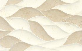 Plytelių keraminis dekoras CERSANIT PINEVILLE CREAM/BEIGE GLOSSY STRUCTURE, 25 x 40 cm, kreminės/smėlio spalvos