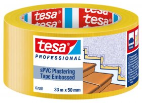 Tinkavimo juosta TESA, PVC, rifliuota, 50 mm x 33 m