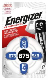 Maitinimo elementai ENERGIZER 675, klausos aparatui, 4 vnt.