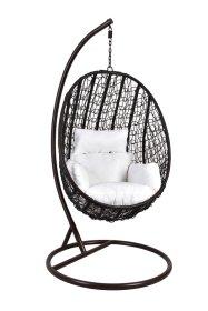 Pakabinamo krėslo su stovu komplektas 200004, 0,97 x 1,10*0,67 m., stovas 198 cm., juodos spalvos, apkrova iki 125 kg.