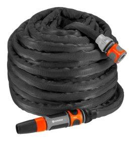 """Tekstilinės žarnos (13 mm - 1/2) 30 m., rinkinys GARDENA Liano, komplekte žarnos jungtis ir jungtis su vožtuvu """"Stop"""", 1 x 18300, 1 x 18202/5309"""