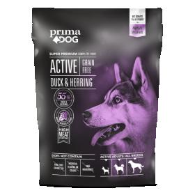 Sausas šunų ėdalas PRIMADOG, Active Be Grūdų Antiena-silkė 1,5kg