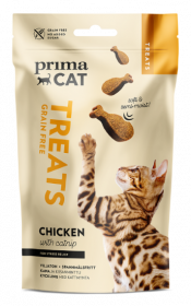 Skanėstas katėms PRIMACAT, minkšta vištiena su katžole, 50g