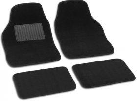 Kilimėliai automobiliui SOFT medžiaginiai, juodi, 4vnt