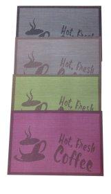Stalo padėkliukai Coffee, įvairių sp., 30 x 40 cm.