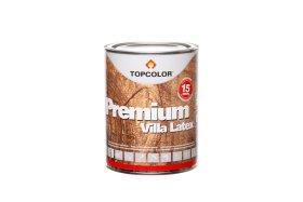 Fasadiniai dažai TOPCOLOR PREMIUM VILLA LATEX, 1 l, skandinaviškos vyšnios spalvos, mediniams paviršiams