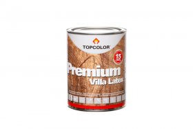 Fasadiniai dažai TOPCOLOR PREMIUM VILLA LATEX, 1 l, rudi, mediniams paviršiams