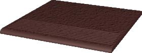Klinkerinės grindų plytelės PARADYZ NATURAL BROWN DURO STOP PROSTA, 30 x 30 cm, pakopinės, Lenkija