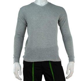 Vyriški šilti marškiniai ilgomis rankovėmis HERVIN, 7860023, pilkos sp., L, 190g