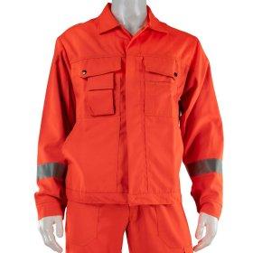Švarkas oranžinis HERVIN, XXL, su šviesą atspindinčiomis juostomis