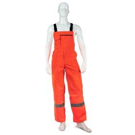 Puskombinezonis darbinis HERVIN, 58, oranžinis su šviesą atspindinčiomis juostomis