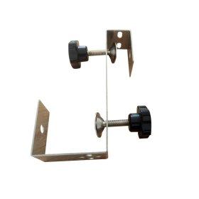 Šildytuvų tvirtinimo elementas 4IQ, tvirtinamas prie skėčių, stoginių