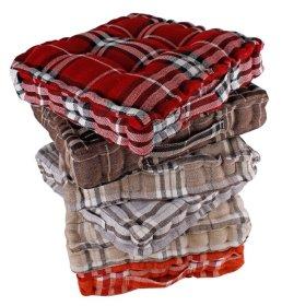Pagalvėlė kėdei, 40 x 40 x 8 cm., languota, įvairių spalvų