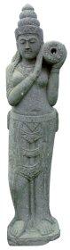 Sodo statula Dama su ąsočiu, pagaminta iš žaliojo akmens, aukštis - 100 cm, 45 kg., netinka sąlytis su druska