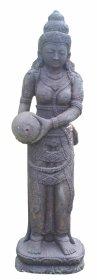 Sodo statula Dama su ąsočiu, pagaminta iš cemento, aukštis - 120 cm, 55 kg., netinka sąlytis su druska
