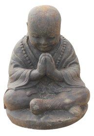 Sodo statula Pasilenkęs maldininkas, pagaminta iš cemento, aukštis - 30 cm, 15 kg., netinka sąlytis su druska