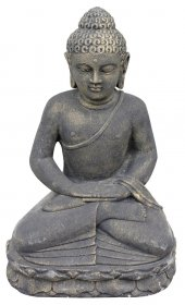 Sodo statula Buda, pagaminta iš cemento, aukštis - 50 cm, 20 kg., netinka sąlytis su druska