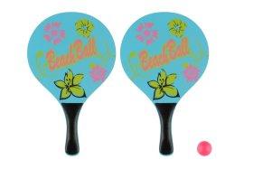 Paplūdimio teniso rinkinys  ATOM, dvi rakėtės, kamuoliukas