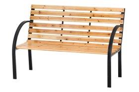 Medinis suoliukas VIENNA, 120x61x83cm, medis, plienas, maksimali apkrova iki 150kg
