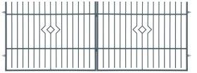 Dekoratyvinės tvoros vartai POLBRAM ARIA