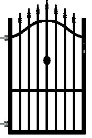 Dekoratyvinės tvoros varteliai POLBRAM ROSE