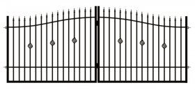 Dekoratyvinės tvoros vartai POLBRAM ROSE