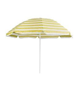 Dryžuotas pliažo skėtis  W01 balta/geltona skersmuo 200cm