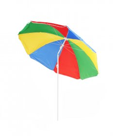 Pakreipiamas pliažo skėtis  B01 spalvotas skersmuo 180cm