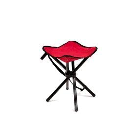 Trikojė žvejybinė kėdutė  RF-FC02R, metalinė, raudona 26x28x35cm